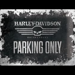 Tin Sign 30*40 cm HD skull parking  logo
