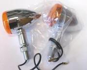 Mini Bullet Blinkers,12V/21W Chr