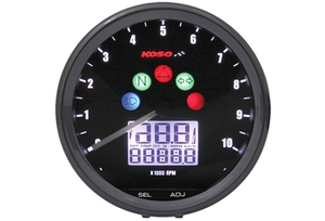 KOSO 68mm Elect. Multimeter, Svart