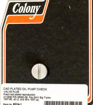 Oil Pump Check Valve Plug,B/T 1936-80 Cad,Clny