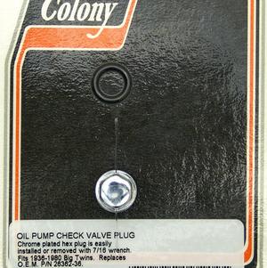 Plugg  Check Valve 1936-80,Hex,Chr