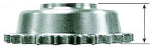 """1/2"""" Offset Drev 5V B/T 85-/1994-06, 24T"""