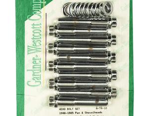 Topplocksbult,12K, B/T Big-Bore,Chr G-W