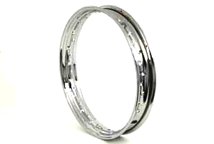 """Rim 18"""" Front And Rear B/T, Wlc; Rear Wla,Chr"""